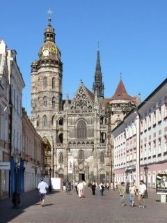 Mission Trip 2005 - Kosice, Slovakia. This is a side view of St. Elizabeth's Cathedral. I've climbed to the top!!