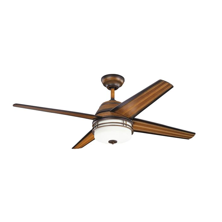 Porters Lake Mediterranean Walnut Indoor And Outdoor Three Light Ceiling Fan Kichler Patio