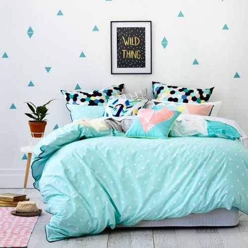 Ruckus Coco Quilt Cover Set Mint, Quilt Covers For Teens