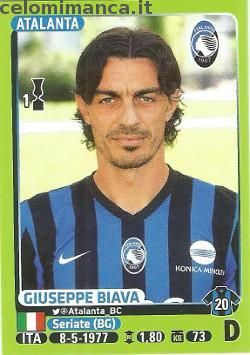 Calciatori 2014-2015: Fronte Figurina n. 10 Giuseppe Biava
