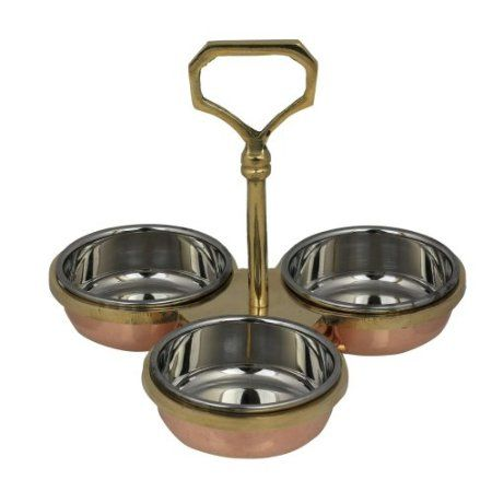 Amazon.com Holder Condiments Serving Set Three Bowls Indian Tableware Dinnerware Kitchen \u0026  sc 1 st  Pinterest & 106 best Indian Kitchen Tableware images on Pinterest | Dinnerware ...