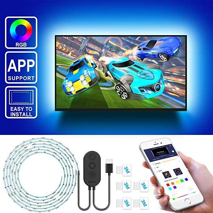 Amazon Com Led Strip Lights For Tv With App Govee 6 56ft Rgb Led Tv Backlights 5050 Tv Lights Kits Multi Diy Color Led Strip Lighting Led Tv Strip Lighting