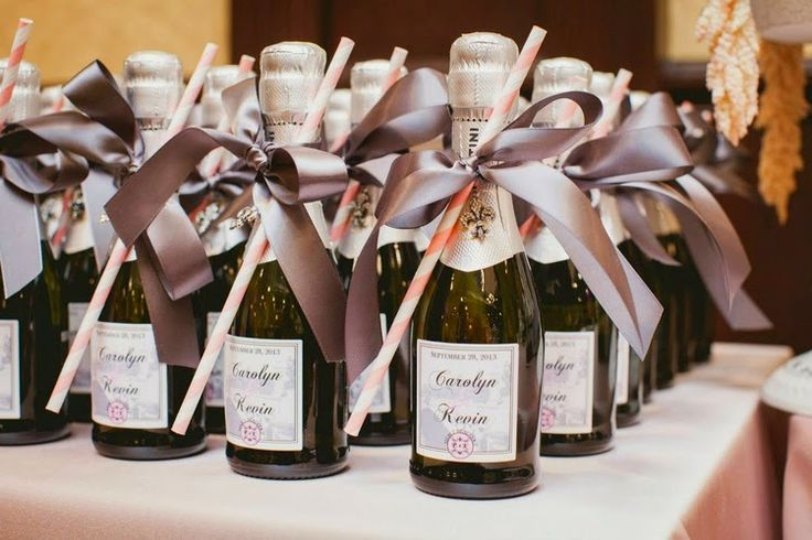 Wedding Favors Gifts For Guests Uk : along with mini Champagne Bottles for Guest Favours at a wedding ...