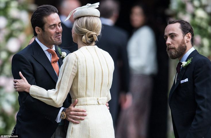 Spencer Matthews Pippa's now brother-in-law was seen giving the socialite a warm welcome...