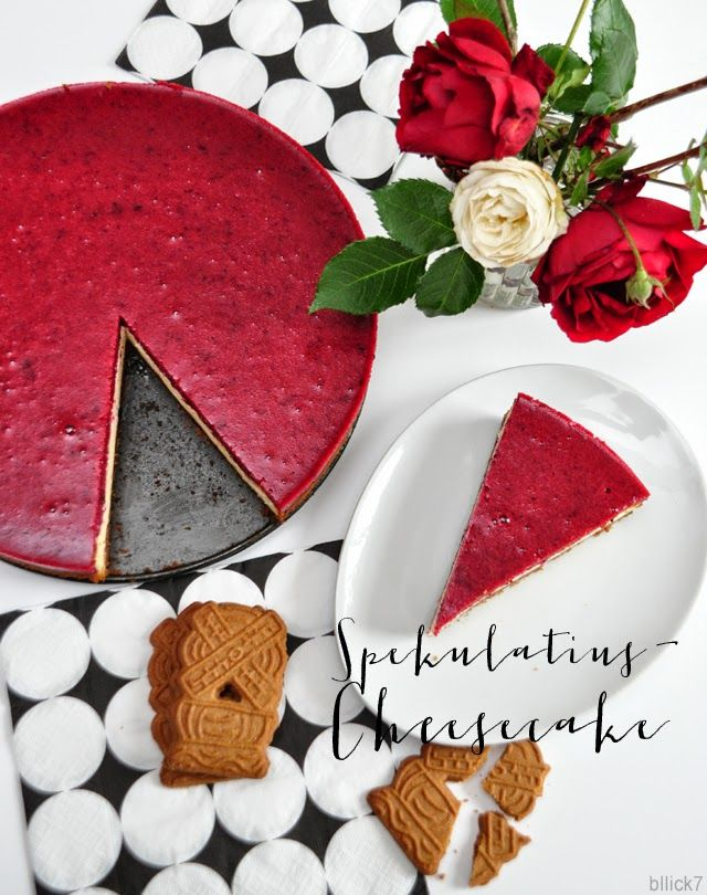 Easy-peasy Spekulatius-Cheesecake mit Waldbeeren, schmeckt bestimmt auch mit Himbeeren oder Kirschguss