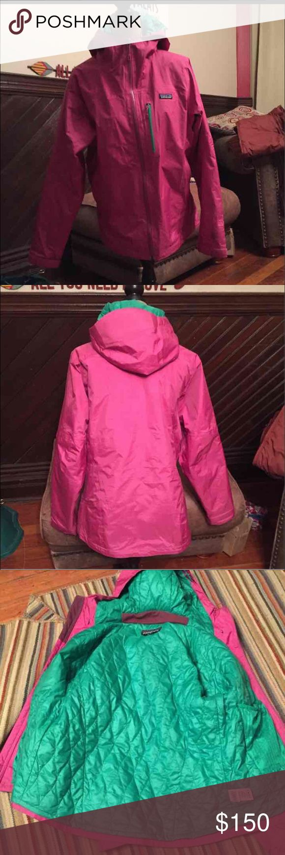 Patagonia ski jacket large This is a WONDERFUL jacket, super warm and comfy!  I wish it wasn't hot pink or I'd keep it! Patagonia Jackets & Coats