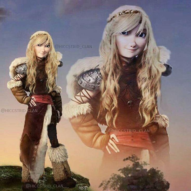 Provavelmente Astrid será assim no 3° e utilmo filme de como treinar o seu dragão da DreamWorks.