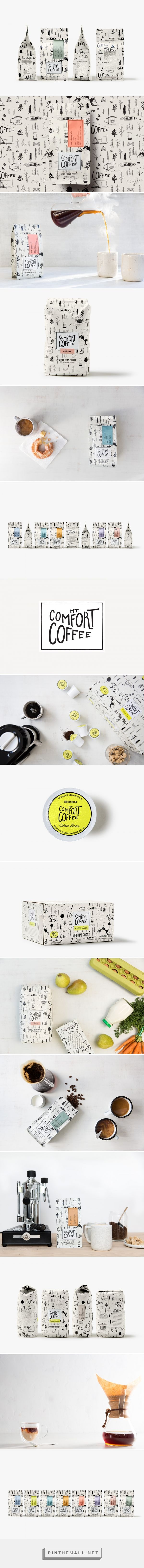 Mt. Comfort Coffee Packaging by Nicole LaFave | Fivestar Branding Agency – Design and Branding Agency & Curated Inspiration Gallery  #coffeepackaging #packaging #packagingdesign #coffee #design #designinspiration