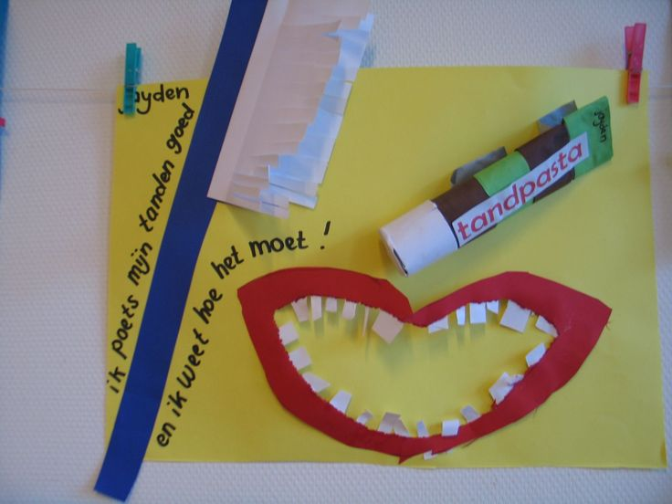 Knutselwerkje tanden poetsen