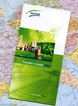 InterRail train passes come with a guide & free European rail map  http://www.seat61.com/InterRail-pass-guide.htm#.UWP8N6sjrjA