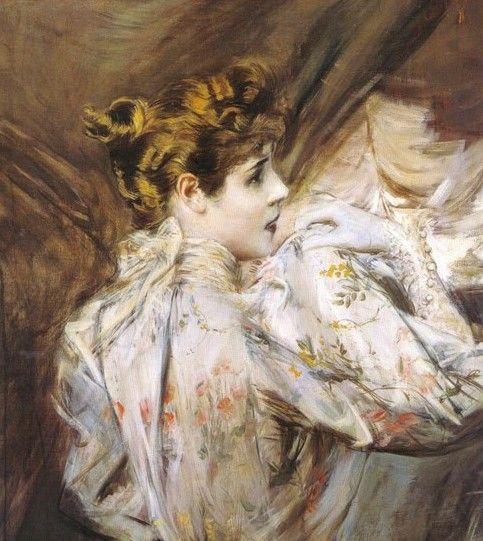 Eleonora Duse, 1858 ~ Giovanni Boldini ~ (Italian: 1842-1931)
