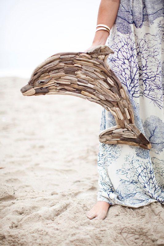Driftwood Dolphin by MaderaDelMar on Etsy, $145.00 #DriftwoodDolphin #OriginalArt #MothersDay