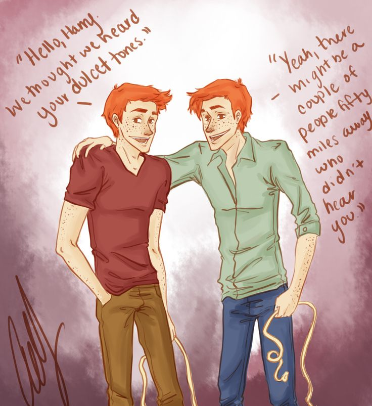 Hello, Harry. by AniPokie.deviantart.com on @deviantART Fred and George, Gred and Forge
