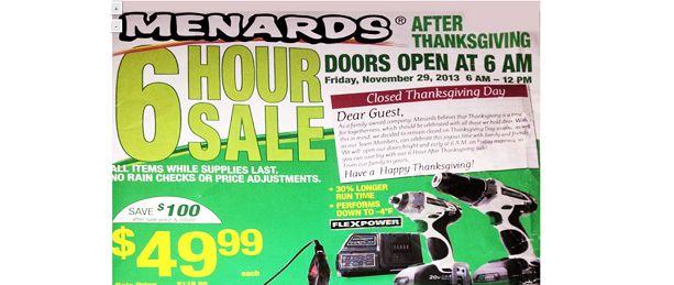 Menards Black Friday 2013 Ad
