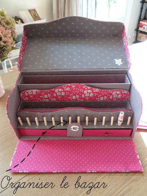boîte de rangement pour la couture.