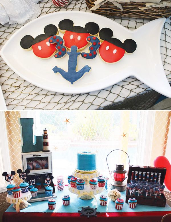 Cute Nautical Mickey Mouse Birthday Party The O Jays