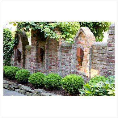 GAP Gardens   Brick Wall In Asian Style Garden   Image No: 0257826   Photo  By Elke Borkowski