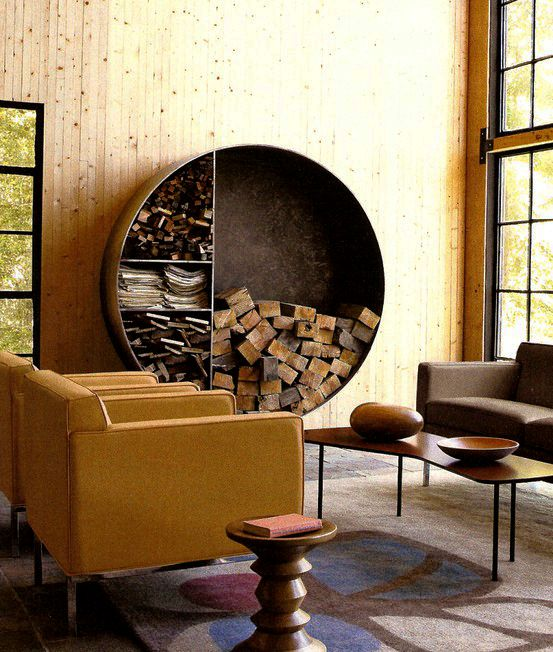 now that's a place to keep (and admire) your firewood. function + beauty = perfection