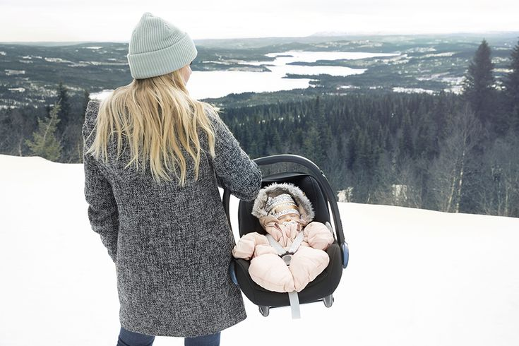 Elodie Details, Snug as a bug! Baby Overall in Powder Pink, Mom in Wool Cap - Mineral Green