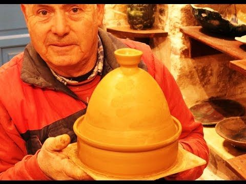 Pottery tajine video: How to make a pottery tagine on potter's wheel.  #108