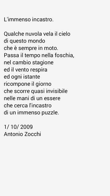 Poesia nel libro 'C'è la Luna in cielo' di Antonio Zocchi