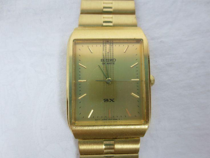 Vintage SEIKO SX WATCH model G4182-L Gold-Tone Men or Women, Japan & Singapore #SEIKO #CasualDresstoFormal