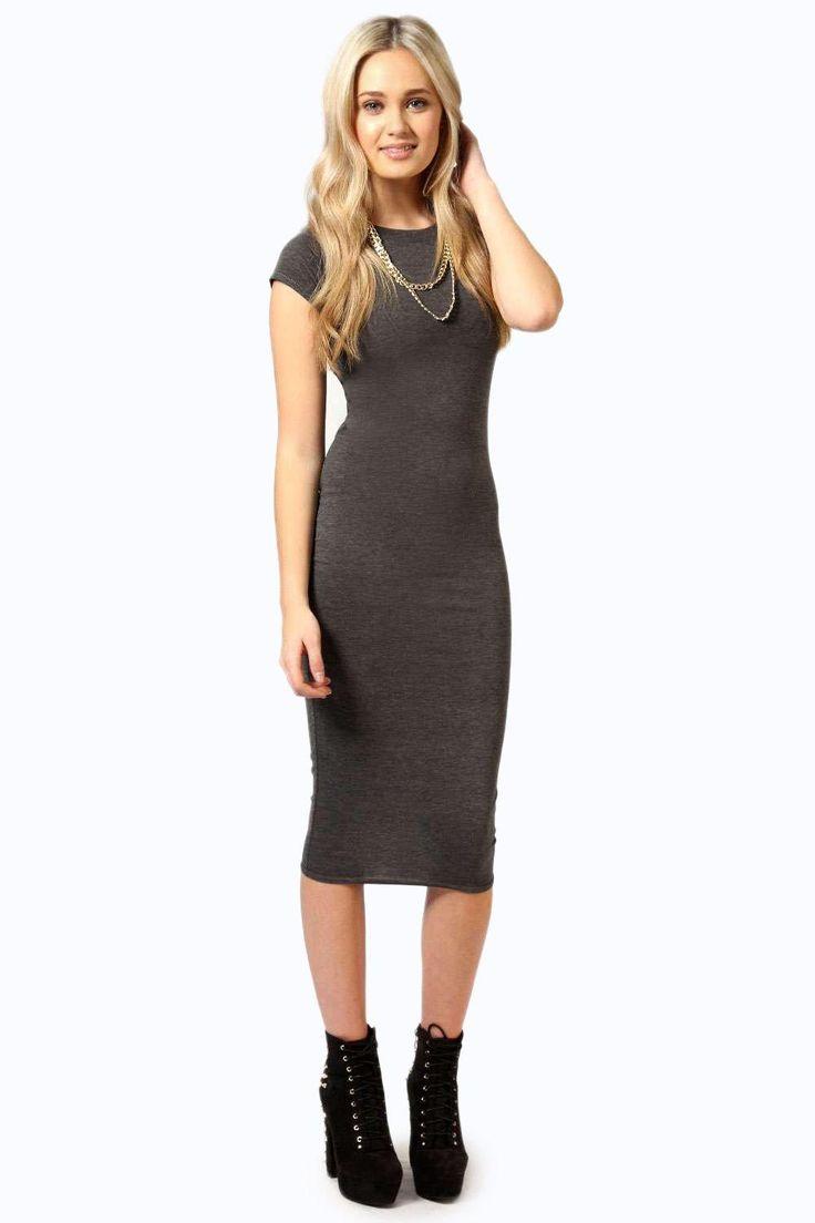 Gillette bodycon t shirt midi dress travel collection strapless