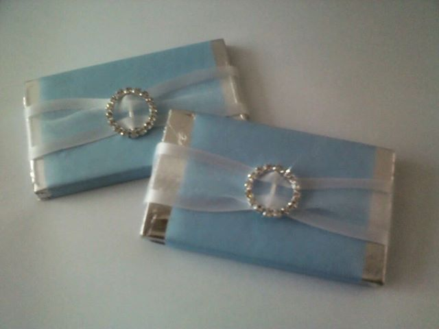 Tiffany inspired wedding chocolates