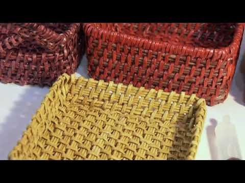 (6) How to weave a rectangular basket - YouTube