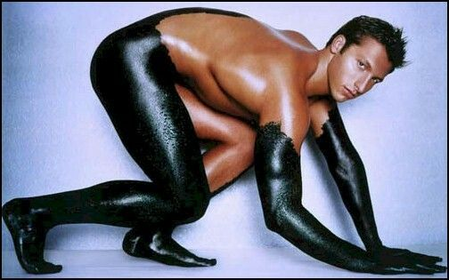 Ian Thorpe is more than an Olympic swimmer. He's also done a bit of modeling:)
