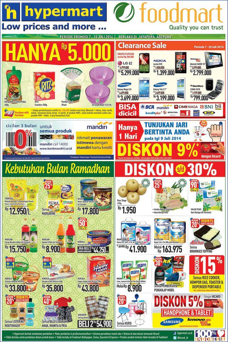 Hypermart: Promo Koran Weekday Periode 7 - 10 Juli 2014 (Jayapura) @hicard_id