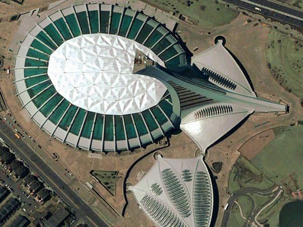 Olympic stadium in Montreal, Cananda