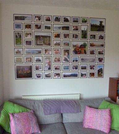 Kersti's photo wall