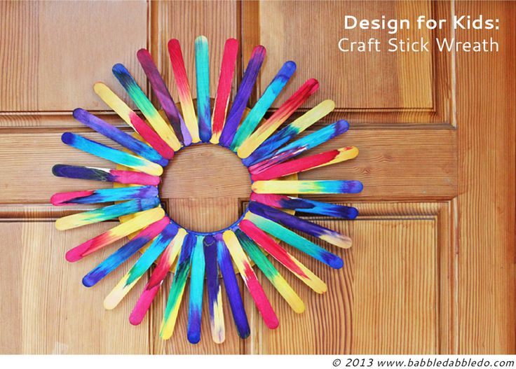Colorful Wreath This Easy And Paper Plate Stick Craft Can Turn Into A