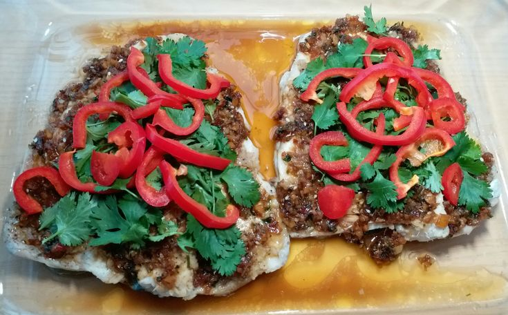 Steamed fish with salty and spicy sauce was a favorite when we were in Penang, Malaysia. Typically, it was a decent sized grouper served whole chinese style. In this case, I'm using rainbow t…