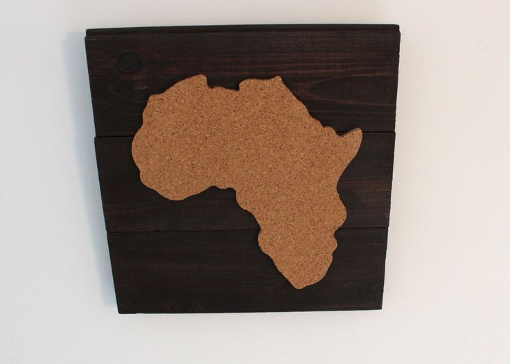 A personal favorite from my Etsy shop https://www.etsy.com/ca/listing/259158926/cork-map-of-africa-on-reclaimed-wood