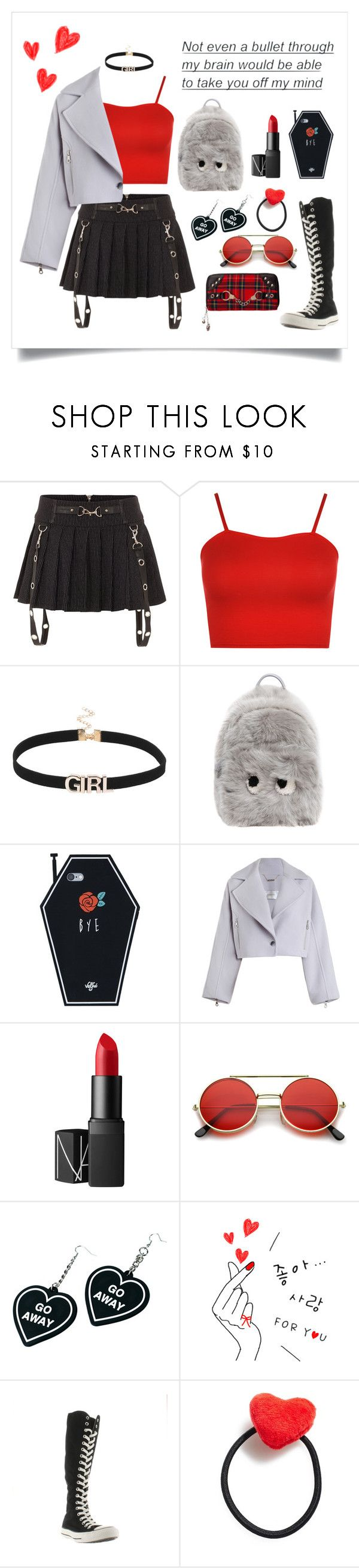"""Daily look❤️"" by helloume ❤ liked on Polyvore featuring WearAll, Anya Hindmarch, Zimmermann, Panacea, NARS Cosmetics, ZeroUV, Banned, Witch Worldwide, Converse and Ponytail Pals"