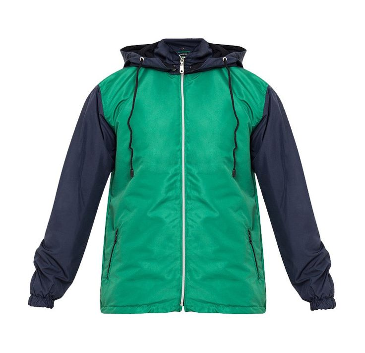 Stay dry with Tolliver Rain Coat With Hoodie Ii. Two tone color rain coat, with green and blue color, this rain coat jacket made from polyester, long sleeve, front zipper, front pocket, simple jacket with a modern touch, perfect for running and everyday use. http://www.zocko.com/z/JHqsM