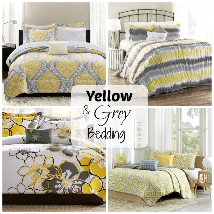 Beautiful Yellow And Grey Bedding Sets For Your Bedroom
