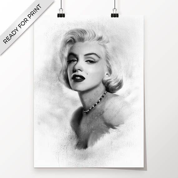 Marilyn Monroe Kunstwerk handgemacht druckbare Kunst