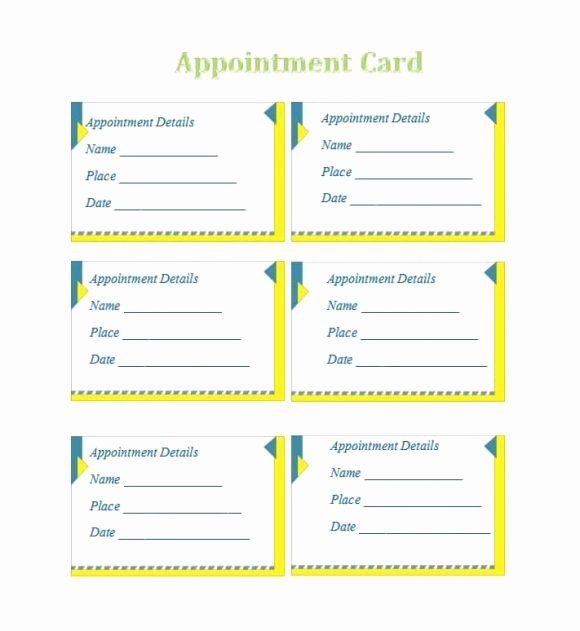 Appointment Reminder Card Template New 40 Appointment Cards Templates Appointm Card Templates Free Free Business Card Templates Free Printable Card Templates