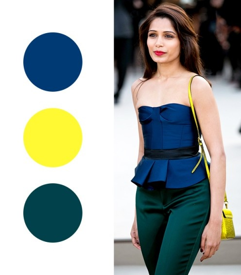 Your Guide to Wearing Color - 8 brilliant color combinations!  via Who What Wear