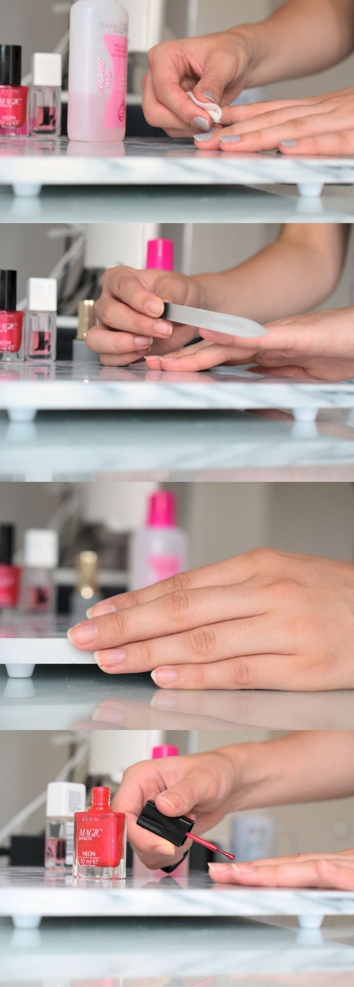 So you do a manicure at home. DIY. In 5 steps to beautiful Näge …  #beautiful #manicure #steps