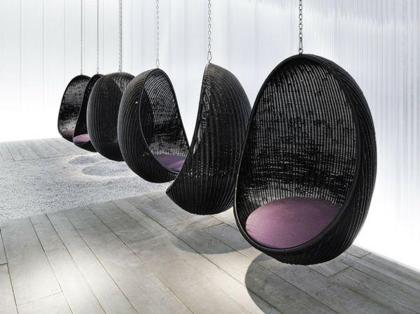 17 meilleures id es propos de chaise suspendue sur pinterest fauteuil suspendu fauteuil une. Black Bedroom Furniture Sets. Home Design Ideas