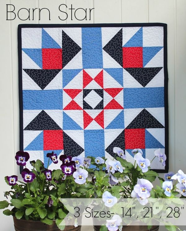 Threadbare Creations- Barn Star Mini Quilt