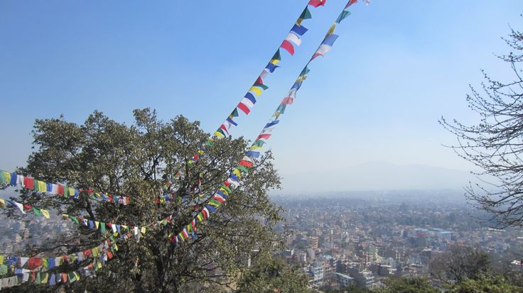 At the top of Kathmandu. A polluted, noisy and crowded city, that could be really interesting if you look for action. Nice city though.