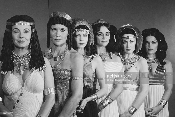 Cast Of The Cleopatras Female cast members of the BBC television drama series 'The Cleopatras' pictured together in Ancient Egyptian period costume in London on 29th November 1982. From left to right: Elizabeth Shepherd (Cleopatra II), Caroline...