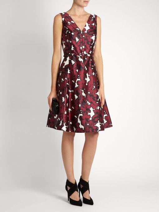 Find Oscar De La Renta Floral-print Silk-twill Dress Only at Modalist