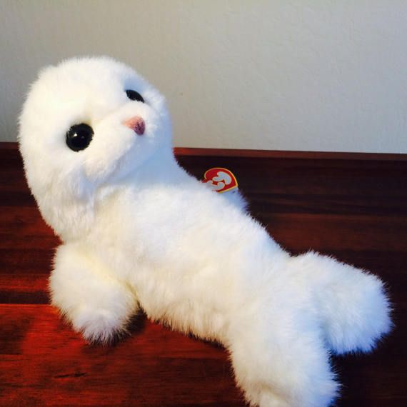 Beanie Buddy Ty Misty White Seal 1997 Sea Life by ChristmasMemory