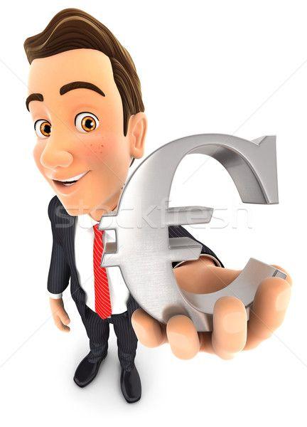 3d businessman euro sign stock photo (c) 3dmask (#6322825) | Stockfresh